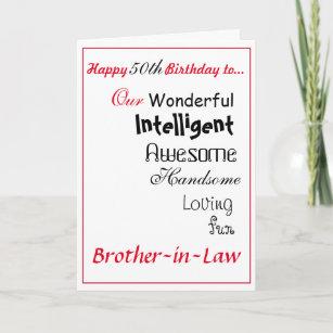 Brother In Law Birthday Card 50th Maleboys