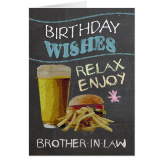 Brother-in-Law Trendy Chalk Board Effect Card