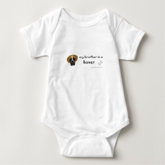 brother is a boxer baby bodysuit