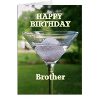 Brother Martini Golf Ball Birthday Card