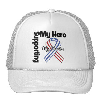 Brother - Military Supporting My Hero Mesh Hats