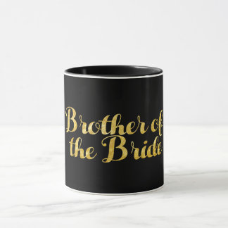 Brother of the bride gold mug