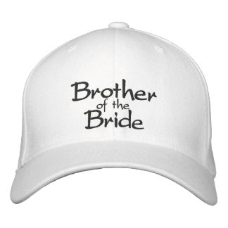 Brother of the Bride Stylish Embroidered Cap Baseball Cap