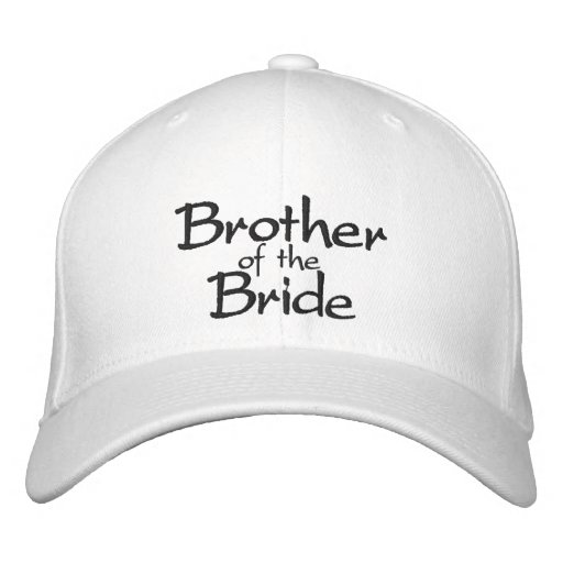 Brother of the Bride Stylish Embroidered Cap Embroidered Baseball Caps