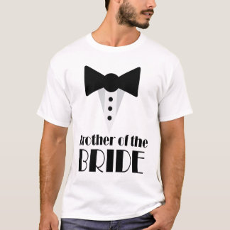 Brother of the Groom Mock Tuxedo Wedding T-shirt