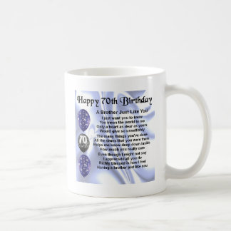 Brother Poem 70th Birthday Coffee Mug