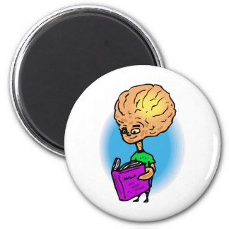 Brother reading a book 2 inch round magnet
