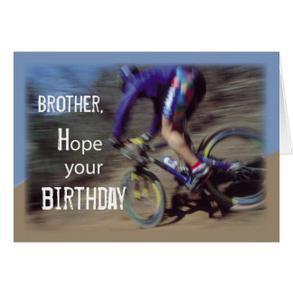 Brother Sports Mountain Bike Birthday Card
