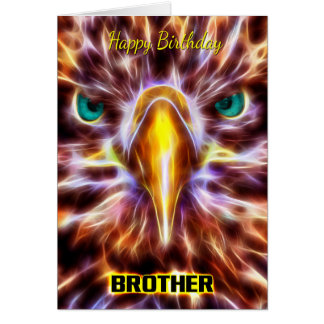 Brother Stylish Birthday Fractal Sea Eagle Card