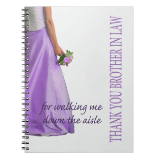 Brother Thanks for Walking me down Aisle Spiral Notebooks