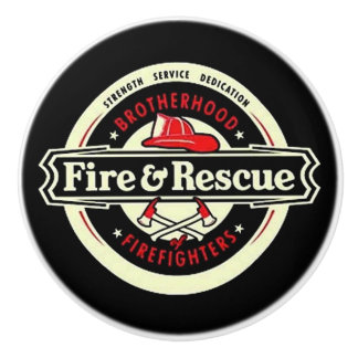Brotherhood Firefighters Ceramic Knob