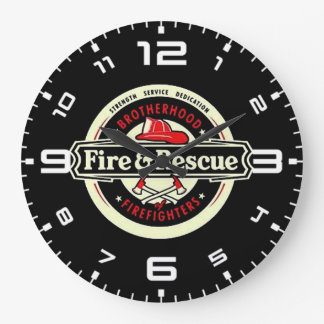 Brotherhood Firefighters Large Clock