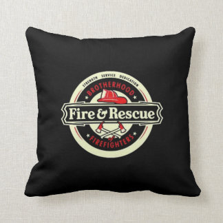 Brotherhood Firefighters Throw Pillow