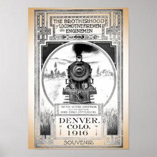 Brotherhood of Locomotive Firemen and Enginemen Poster