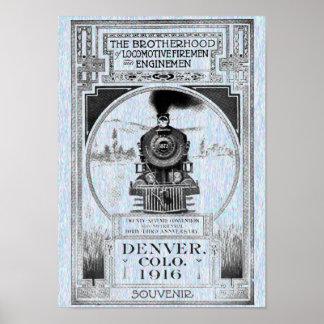 Brotherhood of Locomotive Firemen & Enginemen Poster