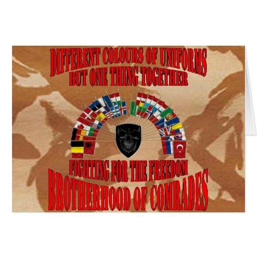Brotherhood OF Military Comrades Greeting Card
