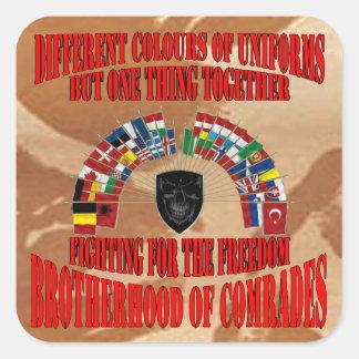 Brotherhood OF Military Comrades Square Sticker