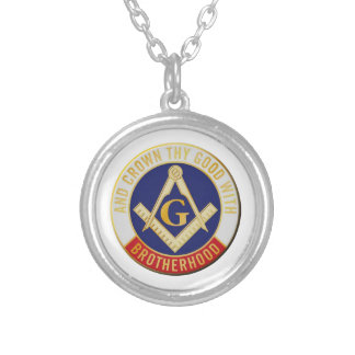 brotherhood silver plated necklace