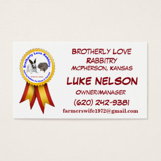 Brotherly Love Rabbitry Business Cards