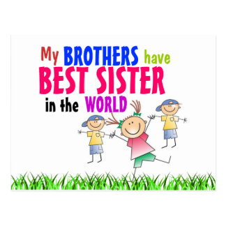 Brothers have Best Sister Postcard