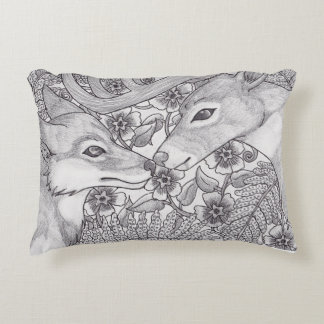 Brothers of the forest decorative pillow
