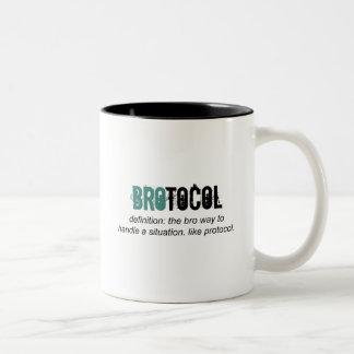 brotocol or Protocol Two-Tone Coffee Mug