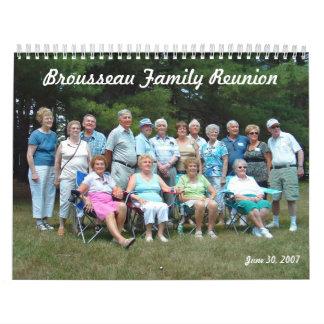 Brousseau Family Reunion Calendar
