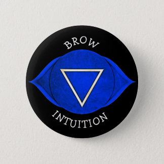 Brow Intuition Blue Chi Chakra Button