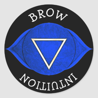 Brow Intuition Blue Chi Chakra Stickers