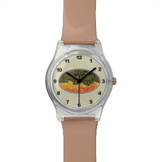 Brow Trout Fly Fishing Wristwatch