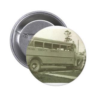 Broward County School bus Hollyqwood Florida 2 Inch Round Button