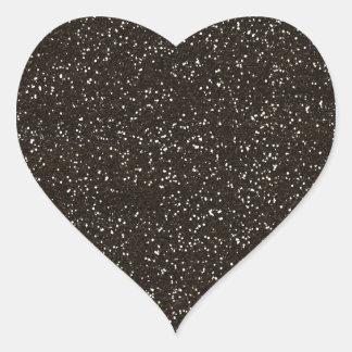 brown2 BEE MINE BROWN GLITTER TEXTURE BACKGROUND T Heart Sticker
