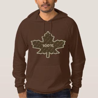 Brown 100% Canadian Hoodie