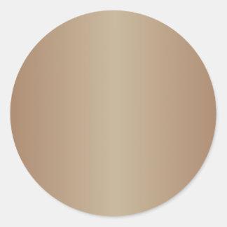 Brown 2 - Chamoisee and Khaki Gradient Classic Round Sticker