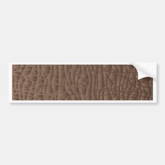 Brown Abstract Background Bumper Sticker