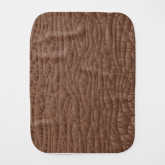 Brown Abstract Background Burp Cloth