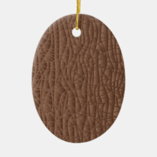 Brown Abstract Background Ceramic Oval Ornament
