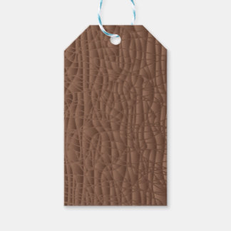 Brown Abstract Background Pack Of Gift Tags