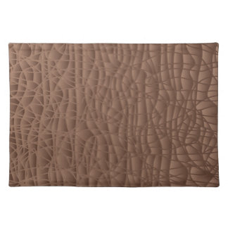 Brown Abstract Background Placemat