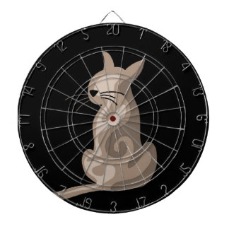 Brown abstract cat dart board