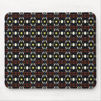 Brown Abstract Flowers Art Pattern Mousepads
