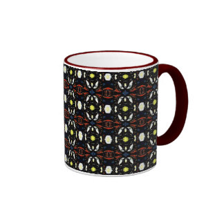 Brown Abstract Flowers Art Pattern Mug