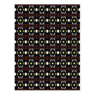 Brown Abstract Flowers Art Pattern Post Cards