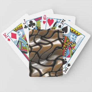 Brown Abstract Sea Design Bicycle Playing Cards