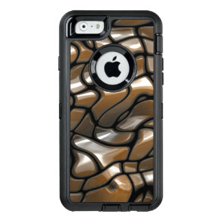 Brown Abstract Sea Design OtterBox Defender iPhone Case