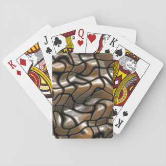 Brown Abstract Sea Design Playing Cards