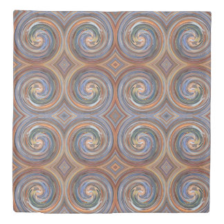 Brown Abstract Swirl Pattern Duvet Cover