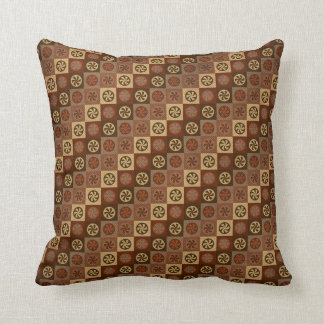 Brown Abstract Throw Pillow