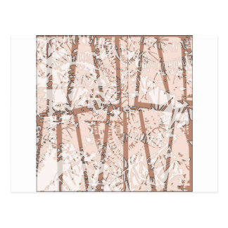 brown abstraction ethnic ornament post card