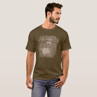 "Brown ""Accept"" Stamped Shirt"